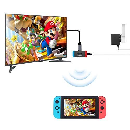 Conector USB C APTX de Baja latencia ZIOCOM Transmisor de Audio con Adaptador Bluetooth conmutador Compatible con Dos Dispositivos Compatible con AirPods PS4 Bose Sony y Auriculares