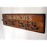 Personalised Engraved Vintage Coat Rack