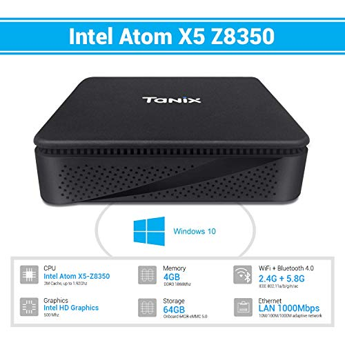 TaNix Mini PC TX85, Windows 10 Pro Intel Atom x5-Z8350