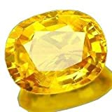 Pranjal Gems 7.25 Ratti Pukhraj Stone/Yellow Saphhire for Men and Women