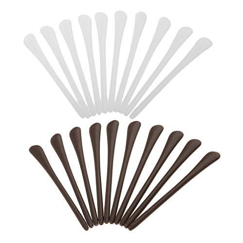 Sharplace 20 Stück Silikon Rutschfeste Überzüge für Bügelenden/Brillenbügel Brille Ersatz Bügel Socke