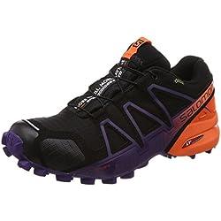 Salomon Speedcross 4 GTX LTD W, Zapatillas de Trail Running para Mujer, Negro (Black/Nasturtium/Parachute Purple 000), 39 1/3 EU