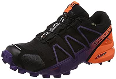 Salomon Damen Speedcross 4 GTX Ltd W Traillaufschuhe, Schwarz (Black/Nasturtium/Parachute Purple 000), 41 1/3 EU