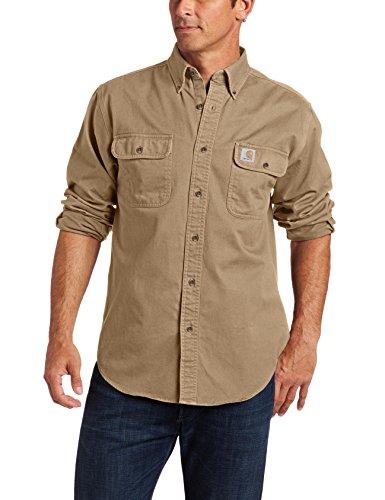Carhartt Men's Oakman Sandstone Twill Original-Fit Work Shirt -
