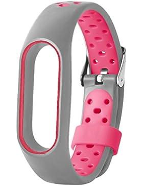 Para xiaomi miband2 correa banda protector para xiaomi miband2 pulsera heart rate fundas correas TPE transpirable...
