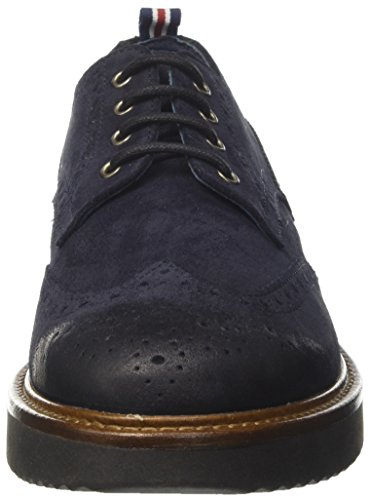Docksteps Herren Wells Low 1690 Derby-Schuhe Blu (Blue Black)