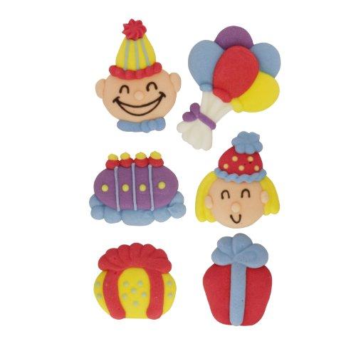 Kava Dolce - Geburtstag Tortendeko Set | Luftballons, Kuchen, Geschenke, Freunde | essbar