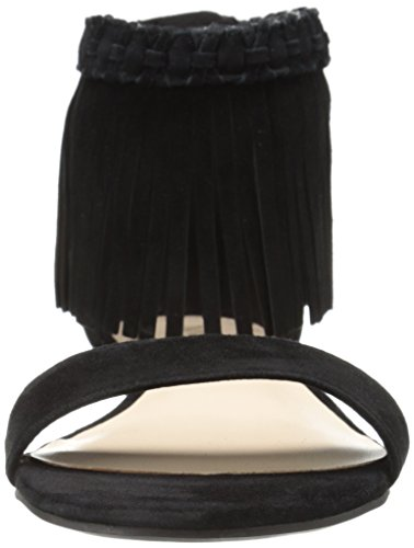 Nine West Womens Wanderlust Suede Dress Sandal Black