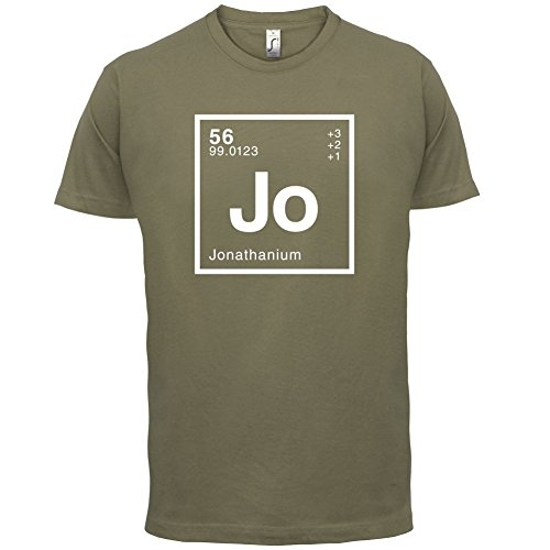 Jonathan Periodensystem - Herren T-Shirt - 13 Farben Khaki