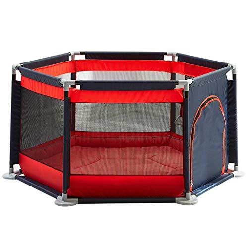 GYX-Laufgitter Baby-Laufstall Kids Activity Center Playard Zelte Sicherheitshöhe Säuglingszaun mit Reißverschluss Aufbewahrungstasche (Rot Cyan) (Activity Baby Monitor)