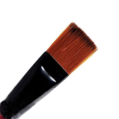 Tenflyer Pack of 6 Art Brown Nylon Paint Brushes for Acrylic : everything five pounds (or less!)