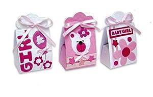 DISOK - Set 24 Cajas Infantiles Baby Girl (3011) - Cajitas, Cajas para Bautizos Niñas, Baby Shower Fiestas, Infantiles