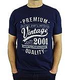 2001 Vintage Year - Aged to Perfection - 18 Ans Anniversaire Homme Cadeaux T-Shirt Marine Bleu L