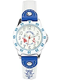 Lulu Castagnette - 38767 - Montre Fille - Quartz Analogique - Cadran Argent - Bracelet Cuir Multicolore