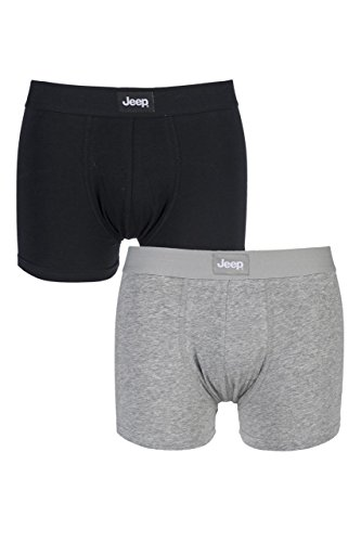 mens-jeep-cotton-plain-fitted-hipster-trunk-boxer-shorts-large-black-grey-marl