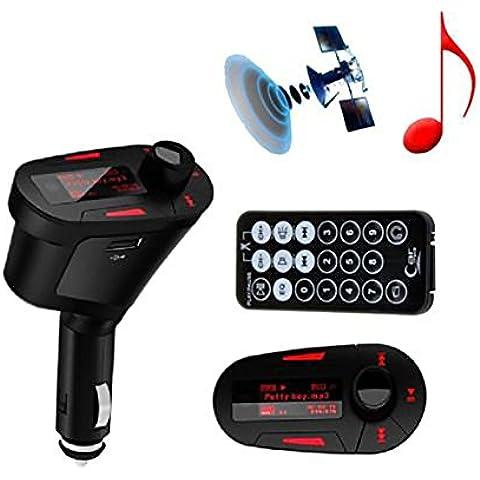 TBS2097Kit MP3 Player Wireless per auto, con trasmettitore FM, modulatore LCD USB SD MMC, e telecomando a distanza
