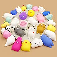 30PCS Squeeze Toys Mini Squishy Party Favors for kids Animal Squishies Stress Relief Toys Soft Squishy Elastic