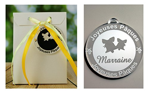 Boite de Chocolat garnie – Joyeuses Pâques Marraine (Cadeau pour Pâques) – Mod. Cloche