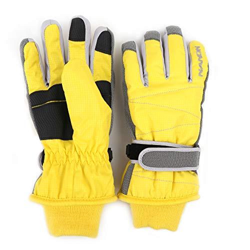 Arcweg Guantes de esquí para niños y Adultos Guantes de Invierno Forrados de Felpa Impermeables de Ciclismo Moto Amarillo L (para Mujer)