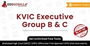 EduGorilla KVIC Executive Group B & C Online Test Series | Unlimited Mock Tests and Speed Tests [1 Month S