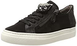 Paul Green Damen 4542001_40.5 Sneaker, Schwarz Black, EU