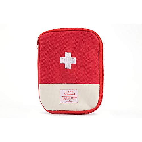 Ouken Outdoor-Reisen Portable Mini Pill Box Home Emergency Kit Medizintasche, L, rot (rot) (Gurt-box-speicher)