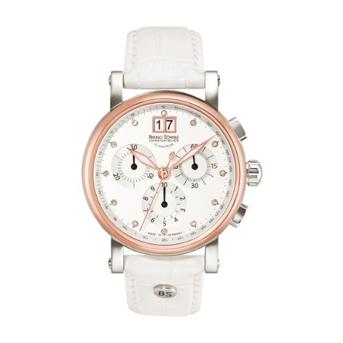 Bruno Söhnle Armida 17 – 63115 – 951 – Wristwatch women's, Leather Strap White