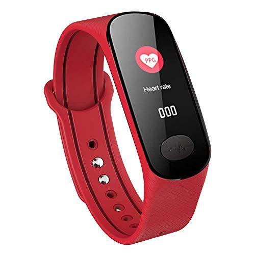 Wysgvazgv Smart Armband Uhr mit Pulsmesser, Fitness Tracker Aktivitätstracker ECG+PPG IP67 Farbbildschirm Pulsuhren Schrittzähler Schlafmonitor Blutdruckmonitor Anruf SMS iOS Android Damen Herren