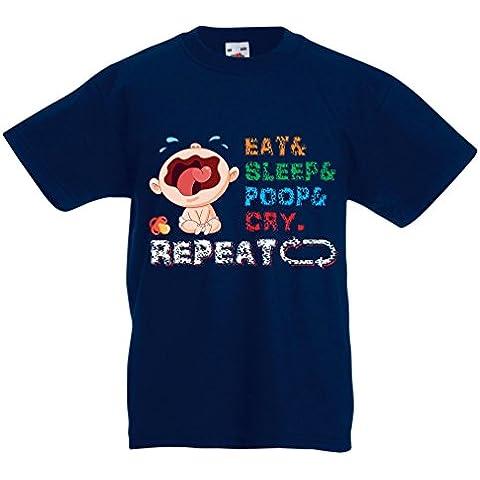 N4527K La camiseta de los niños Baby in My hose