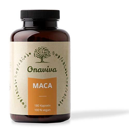 Maca Kapseln | Hochdosiert 3000 mg Bio Maca Pulver pro Tagesdosis | 180 Kapseln | Vegan | Potenz & Libido | Geprüfte Qualität aus Deutschland