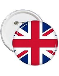 DIYthinker Nacional del Reino Unido Bandera Europa País símbolo de la marca Modelo redondo Insignia del