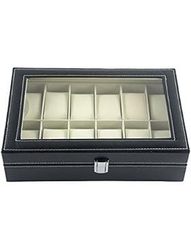 DoubleBlack Uhrenbox for 12 Uhren