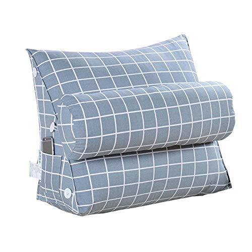 PoeticHouse Dreieckig mit Rückenlehne Kopfstütze Stuhlkissen Sitzkissen Nackenrolle Ergonomisches für Sofa Bett Rückenlehne Keilkissen