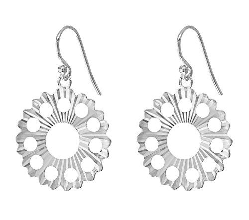 Tuscany Silver Ohrhänger Sterling Silber Geschnitten Sonnenstrahl Kettenrad