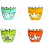 Novastyl - 5186085 -Tasses Café du Monde - Multicolore - Lot de 6