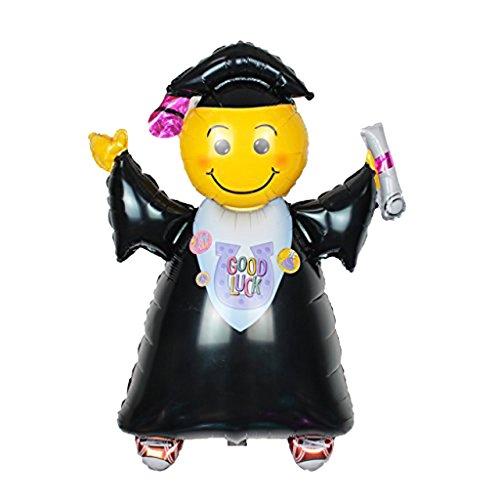 Blesiya 10pz Cappello Doctorial Forma Palloncino Pallone Decorazione Partito di Laurea - #1