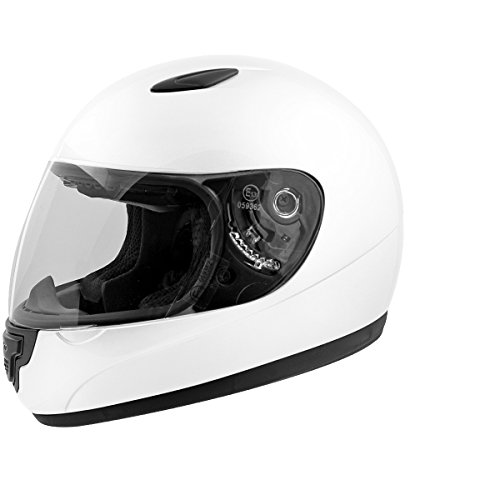 TNTHE casco integral niño Mino, color blanco, talla S