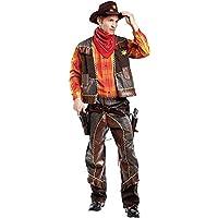 Costume di Carnevale da Cowboy Vestito per Uomo Adulti Travestimento  Veneziano Halloween Cosplay Festa Party 4476 343fe9c5d51b