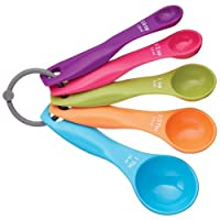 JUNGEN Multi-Color Measuring Spoon Set Cooking Spoons Set - 5 Pieces
