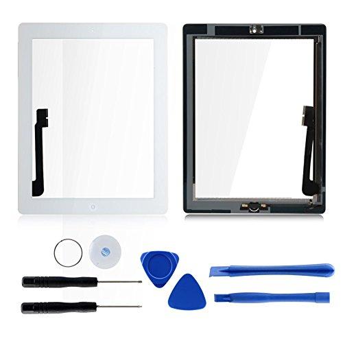 Weiß für iPad 4 Touch screen Touch Glas Scheibe Digitizer Display Werkzeuge (Ipad 4 Digitizer)