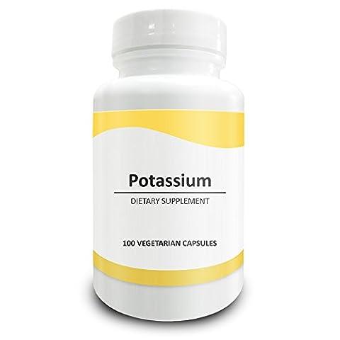 Pure Science Kalium 99 mg aus 595 mg Kalium Gluconat abgeleitet - 100 vegetarische Kapseln