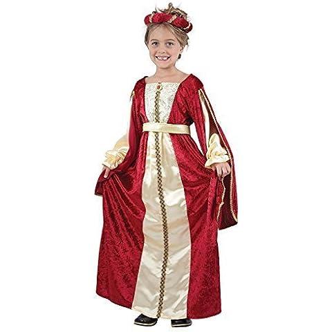 Rojo De Niñas Rich Elegante Tudor Medieval Princesa Disfraz 4-14 años - 10-12 Años