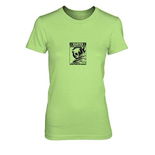 Wanted Arrow - Damen T-Shirt, Größe: XL, Farbe: hellgrün