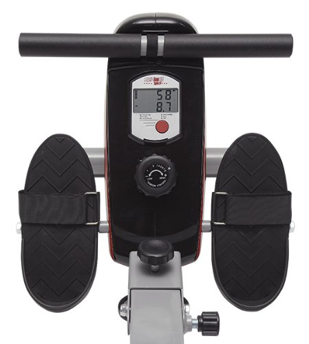 41vgIc0VpVL - Christopeit Sport Unisex's Lugano Rower, Silver/red/Black, Medium