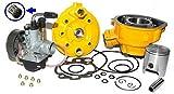Unbranded 70ccm Tuning Zylinder VERGASER KIT Set für Motor 50 AM6 EU1 Wasser 2T GELB Zylinderkit