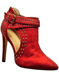 Zapatos rojos Angkorly para mujer 9lXASTM4UF