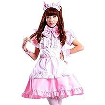 ourlove la moda mujer Cosplay orejas de gato adulto vestido disfraz de sirvienta