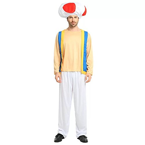 Super Mario Toad Hat + Pants + Top - Adult Costume Set