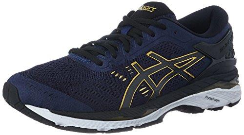 ASICS Men's Gel-Kayano 24 Peacoat/Black/Rich Gold Running Shoes - 6 UK/India (40 EU)(7 US)