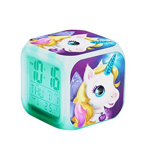 Unicornio Despertador Infantil Relojes alarma digitales